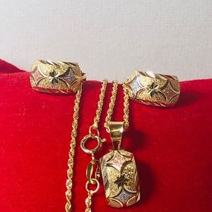 18K REAL GOLD SET